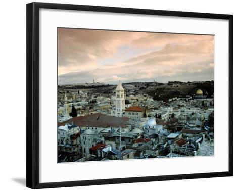 Old City of Jerusalem, Jerusalem, Israel-Izzet Keribar-Framed Art Print