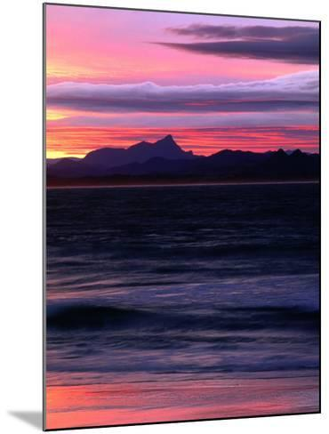 Watego's Beach with Mt. Warning in Distance Byron Bay, New South Wales, Australia-John Hay-Mounted Photographic Print