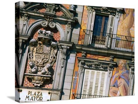 Building Facades in Plaza Mayor, Madrid, Comunidad De Madrid, Spain-Christopher Groenhout-Stretched Canvas Print