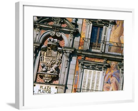 Building Facades in Plaza Mayor, Madrid, Comunidad De Madrid, Spain-Christopher Groenhout-Framed Art Print