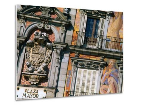 Building Facades in Plaza Mayor, Madrid, Comunidad De Madrid, Spain-Christopher Groenhout-Metal Print
