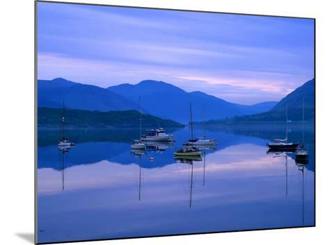 Moored Yachts on Loch Broom, Ullapool, Scotland-Grant Dixon-Mounted Photographic Print