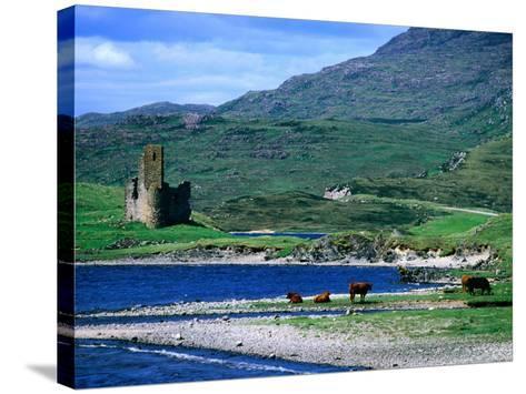 Ardvreck Castle on Loch Assynt, Assynt, Scotland-Grant Dixon-Stretched Canvas Print
