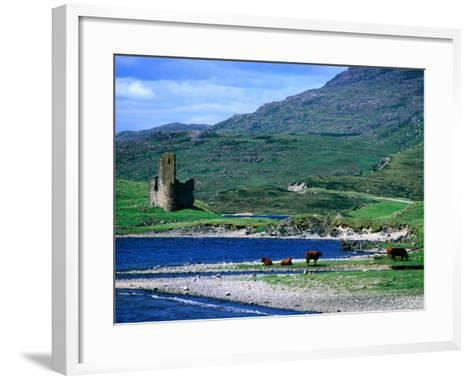 Ardvreck Castle on Loch Assynt, Assynt, Scotland-Grant Dixon-Framed Art Print