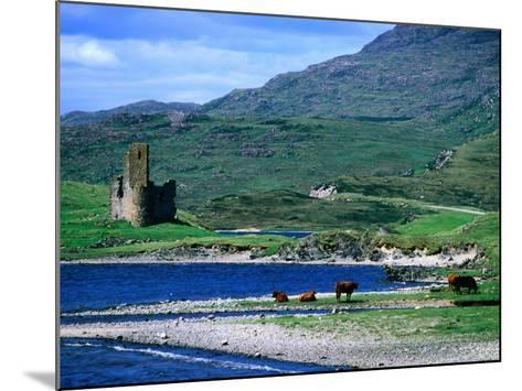 Ardvreck Castle on Loch Assynt, Assynt, Scotland-Grant Dixon-Mounted Photographic Print