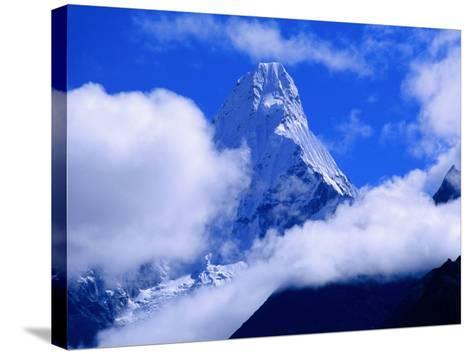 Ama Dablam from Near Tengboche on Everest Basecamp Trek, Everest Base Camp, Sagarmatha, Nepal-Grant Dixon-Stretched Canvas Print