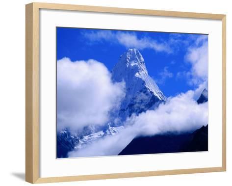 Ama Dablam from Near Tengboche on Everest Basecamp Trek, Everest Base Camp, Sagarmatha, Nepal-Grant Dixon-Framed Art Print