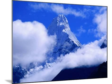 Ama Dablam from Near Tengboche on Everest Basecamp Trek, Everest Base Camp, Sagarmatha, Nepal-Grant Dixon-Mounted Photographic Print