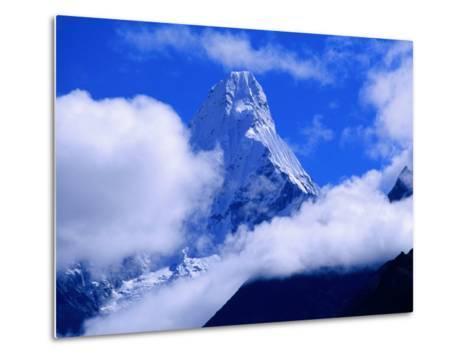 Ama Dablam from Near Tengboche on Everest Basecamp Trek, Everest Base Camp, Sagarmatha, Nepal-Grant Dixon-Metal Print