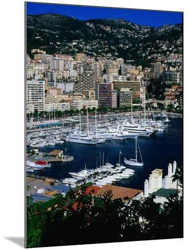 Boats in Port, Monte Carlo, Monaco-Neil Setchfield-Mounted Photographic Print