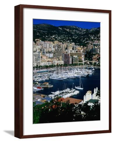 Boats in Port, Monte Carlo, Monaco-Neil Setchfield-Framed Art Print