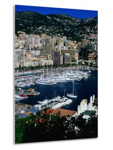 Boats in Port, Monte Carlo, Monaco-Neil Setchfield-Metal Print