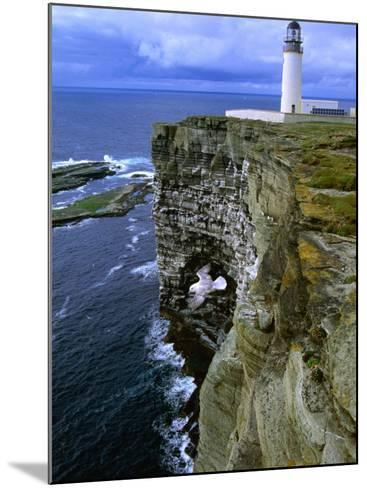 Lighthouse and Cliffs at Noup Head Rspb Reserve, Westray, Orkney Islands, Scotland-Gareth McCormack-Mounted Photographic Print