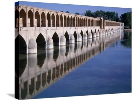 Si-O-Se Bridge, Bridge of 33 Archs, Esfahan, Iran-Simon Richmond-Stretched Canvas Print