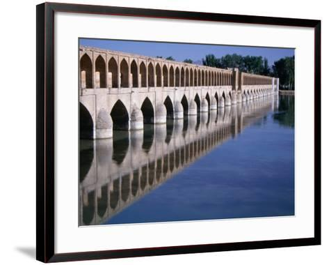 Si-O-Se Bridge, Bridge of 33 Archs, Esfahan, Iran-Simon Richmond-Framed Art Print