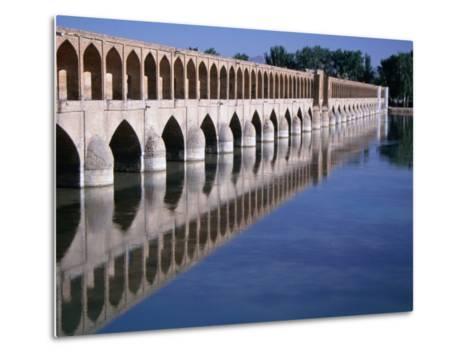 Si-O-Se Bridge, Bridge of 33 Archs, Esfahan, Iran-Simon Richmond-Metal Print
