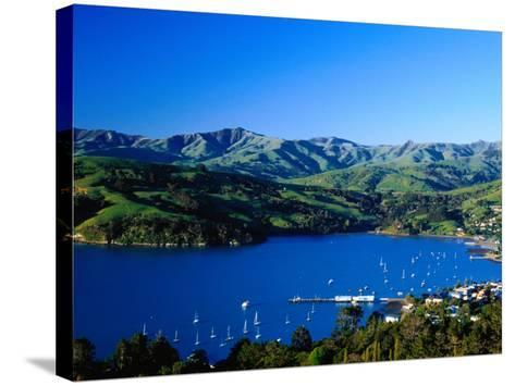 Akaroa Harbour, Banks Peninsula, Canterbury, New Zealand-Paul Kennedy-Stretched Canvas Print