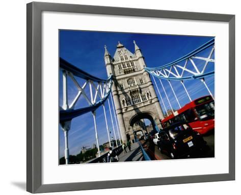 Tower Bridge, London, United Kingdom-Martin Moos-Framed Art Print