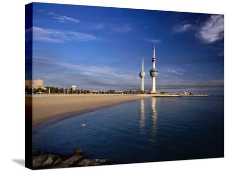 Kuwait City Water Towers on Seafront, Kuwait, Kuwait-Izzet Keribar-Stretched Canvas Print