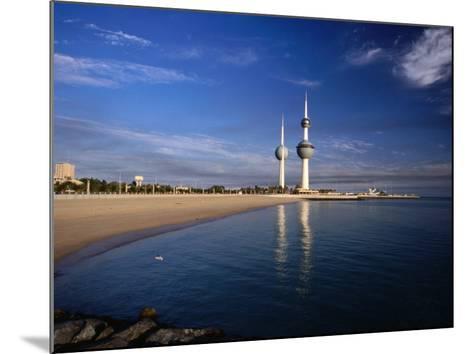 Kuwait City Water Towers on Seafront, Kuwait, Kuwait-Izzet Keribar-Mounted Photographic Print