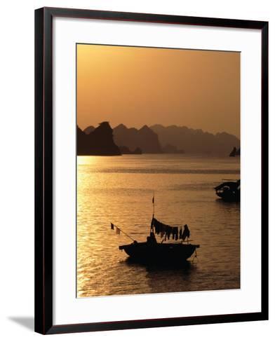 Dusk Over Halong Bay, Halong City, Vietnam-Oliver Strewe-Framed Art Print