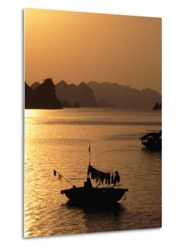 Dusk Over Halong Bay, Halong City, Vietnam-Oliver Strewe-Metal Print