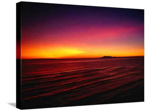 Sunset Over Mar De Cortes, Sea of Cortez, Mexico-Peter Ptschelinzew-Stretched Canvas Print