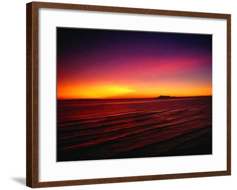 Sunset Over Mar De Cortes, Sea of Cortez, Mexico-Peter Ptschelinzew-Framed Art Print