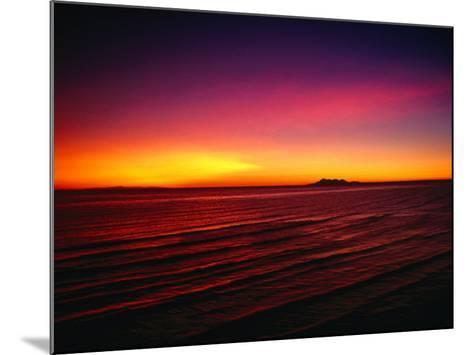 Sunset Over Mar De Cortes, Sea of Cortez, Mexico-Peter Ptschelinzew-Mounted Photographic Print
