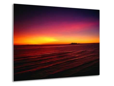 Sunset Over Mar De Cortes, Sea of Cortez, Mexico-Peter Ptschelinzew-Metal Print