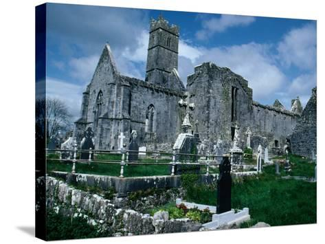 Ruin of Ennis Friary, Founded by O'Brien Kings of Thomond in 13th Century, Ennis, Ireland-Tony Wheeler-Stretched Canvas Print