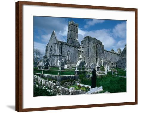 Ruin of Ennis Friary, Founded by O'Brien Kings of Thomond in 13th Century, Ennis, Ireland-Tony Wheeler-Framed Art Print
