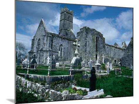 Ruin of Ennis Friary, Founded by O'Brien Kings of Thomond in 13th Century, Ennis, Ireland-Tony Wheeler-Mounted Photographic Print