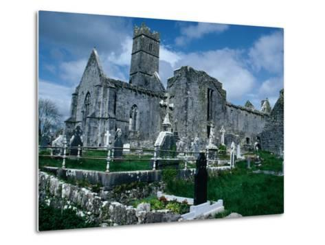 Ruin of Ennis Friary, Founded by O'Brien Kings of Thomond in 13th Century, Ennis, Ireland-Tony Wheeler-Metal Print