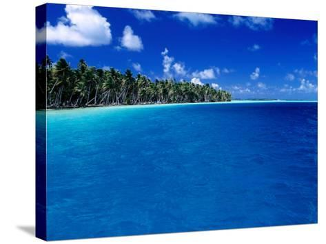 Blue Waters of Lagoon, French Polynesia-Jean-Bernard Carillet-Stretched Canvas Print