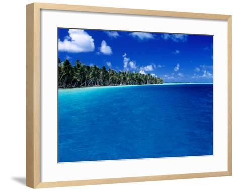 Blue Waters of Lagoon, French Polynesia-Jean-Bernard Carillet-Framed Art Print