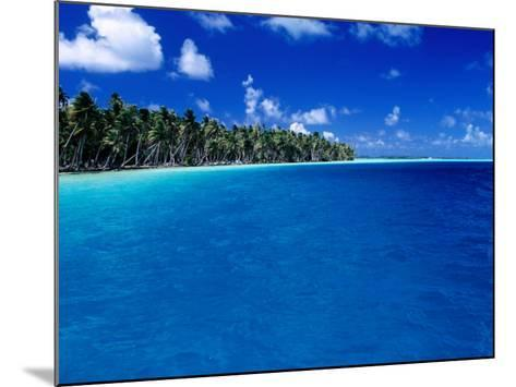 Blue Waters of Lagoon, French Polynesia-Jean-Bernard Carillet-Mounted Photographic Print