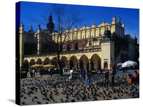 Sukiennice Arcaded Cloth Hall on Main Market Square, Krakow, Malopolskie, Poland-Krzysztof Dydynski-Stretched Canvas Print