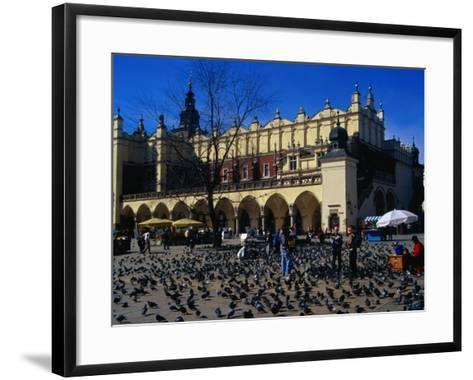 Sukiennice Arcaded Cloth Hall on Main Market Square, Krakow, Malopolskie, Poland-Krzysztof Dydynski-Framed Art Print