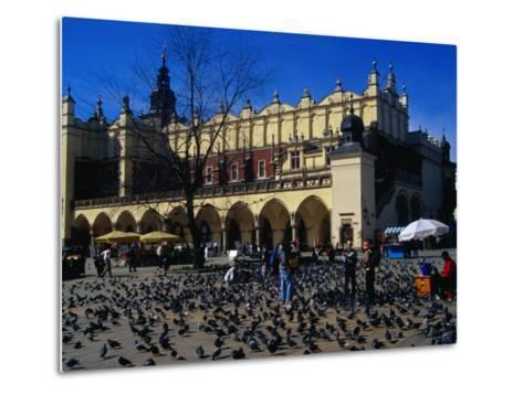 Sukiennice Arcaded Cloth Hall on Main Market Square, Krakow, Malopolskie, Poland-Krzysztof Dydynski-Metal Print
