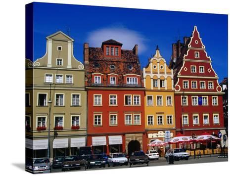 Burgher Houses on Salt Square, Wroclaw, Poland-Krzysztof Dydynski-Stretched Canvas Print