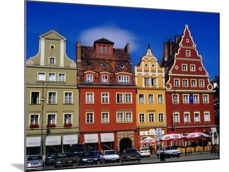 Burgher Houses on Salt Square, Wroclaw, Poland-Krzysztof Dydynski-Mounted Photographic Print