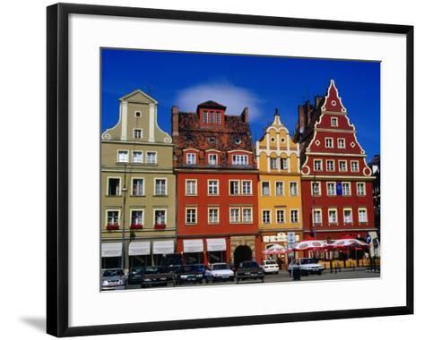 Burgher Houses on Salt Square, Wroclaw, Poland-Krzysztof Dydynski-Framed Art Print