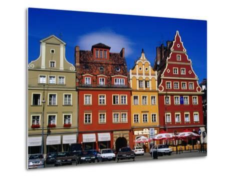 Burgher Houses on Salt Square, Wroclaw, Poland-Krzysztof Dydynski-Metal Print