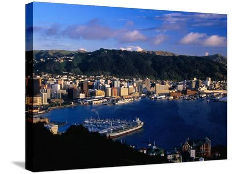 Wellington Harbour, Wellington, Wellington, New Zealand-David Wall-Stretched Canvas Print