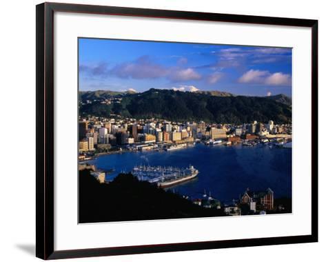 Wellington Harbour, Wellington, Wellington, New Zealand-David Wall-Framed Art Print