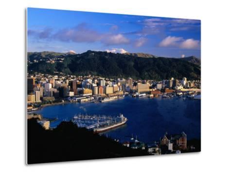 Wellington Harbour, Wellington, Wellington, New Zealand-David Wall-Metal Print