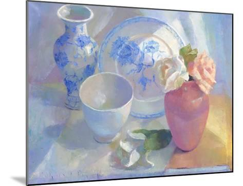 Porcelain Vase & Rose-Carolyn Biggio-Mounted Premium Giclee Print