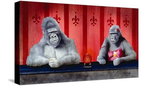 Goin Ape Down at the Monkey Bars-Will Bullas-Stretched Canvas Print