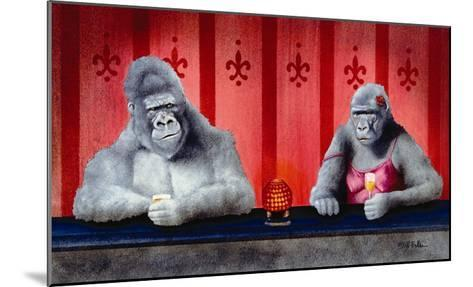 Goin Ape Down at the Monkey Bars-Will Bullas-Mounted Premium Giclee Print